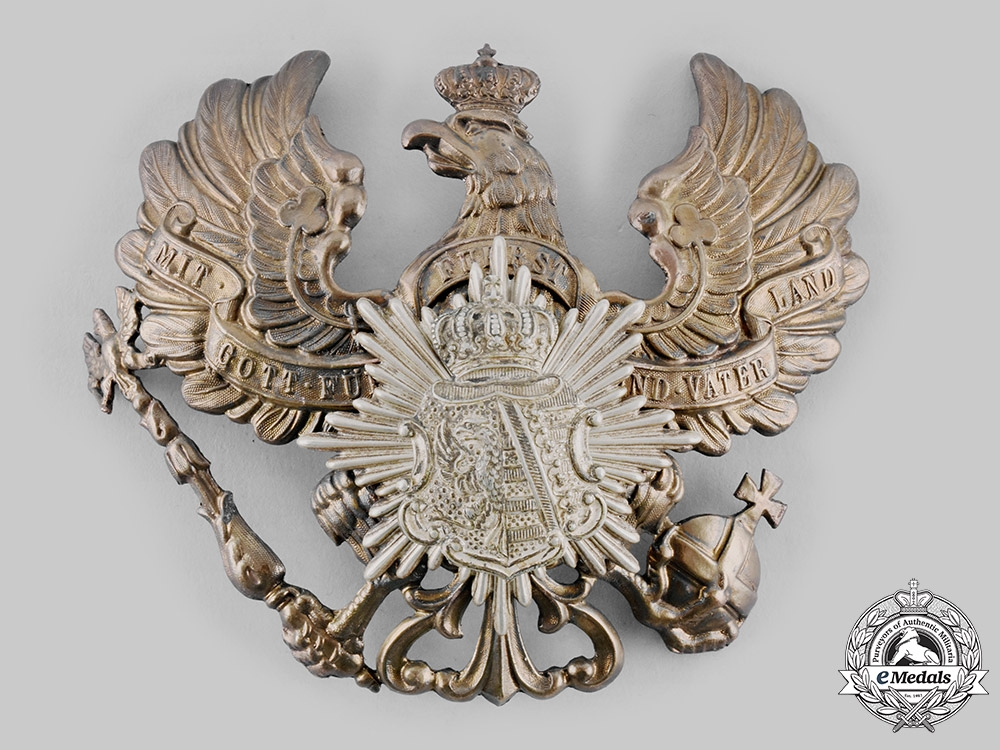 eMedals-Anhalt, Duchy. An Infantry Regiment No.93  Pickelhaube Helmet Plate