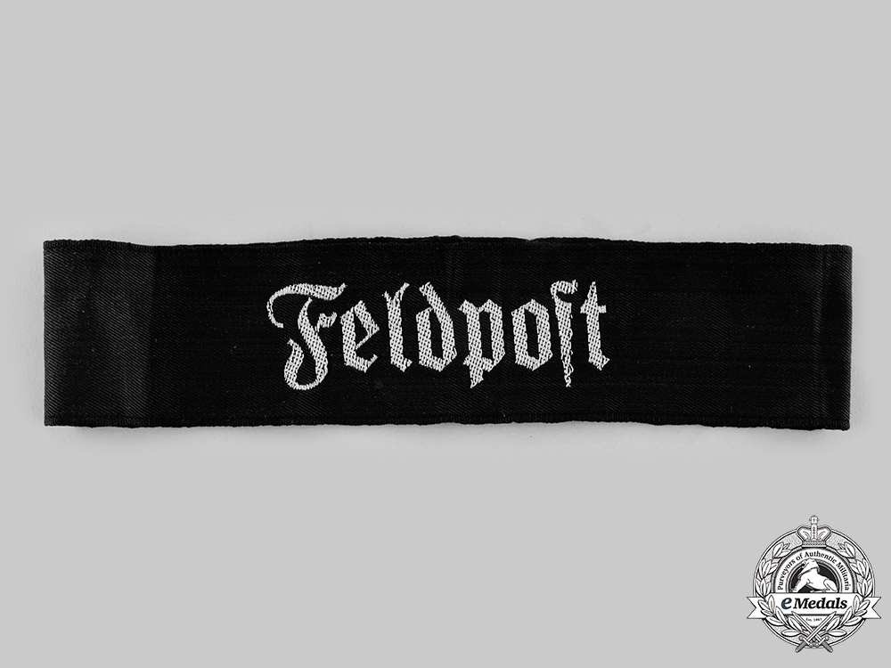 eMedals-Germany, Wehrmacht. A Rare Wehrmacht Feldpost Cuff Title