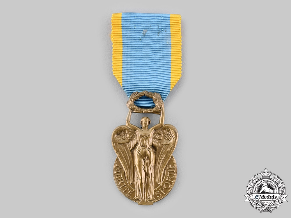 eMedals-France, IV Republic. An Order of Sporting Merit, III Class Knight, c.1960