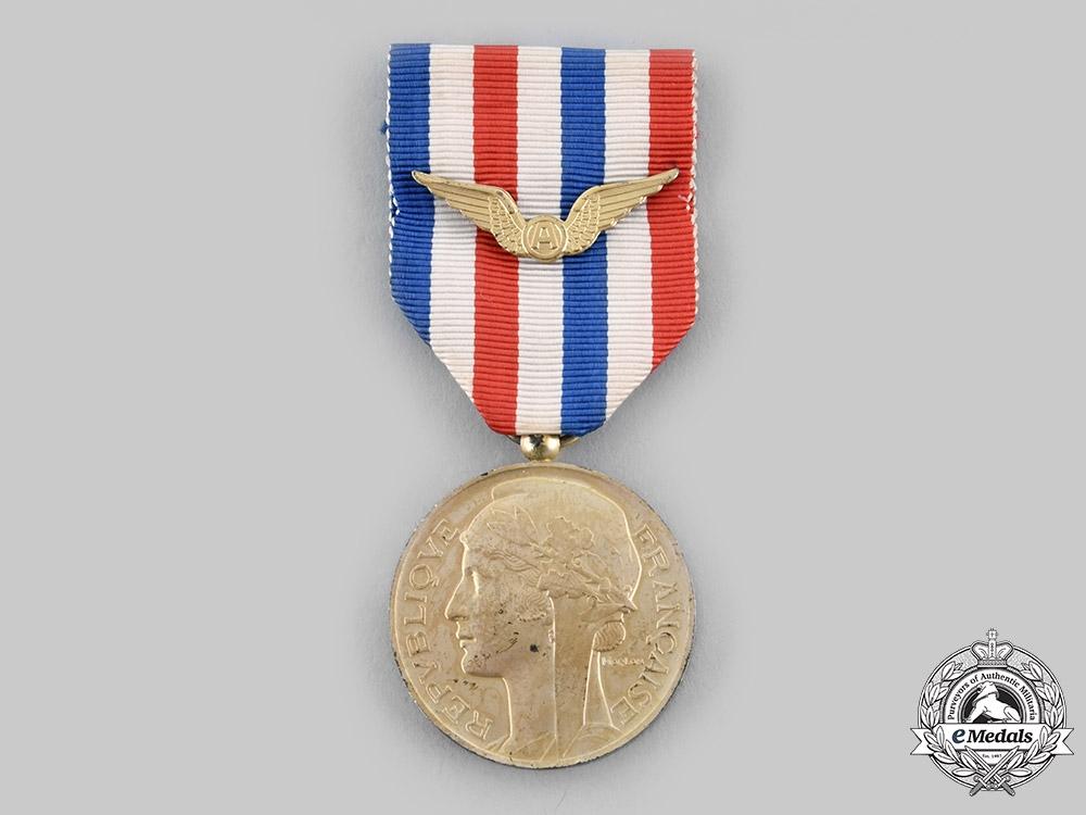 eMedals-France, V Republic. A Medal of Honour for Aeronautics, II Class Silver, c.1950