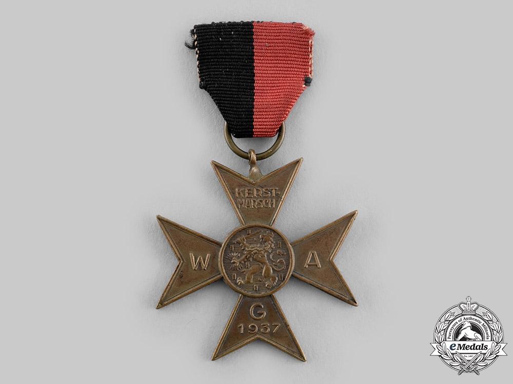 eMedals-Netherlands, NSB. A Dutch National-Socialist Movement Kerst-Marsch Commemoration Medal, c.1937