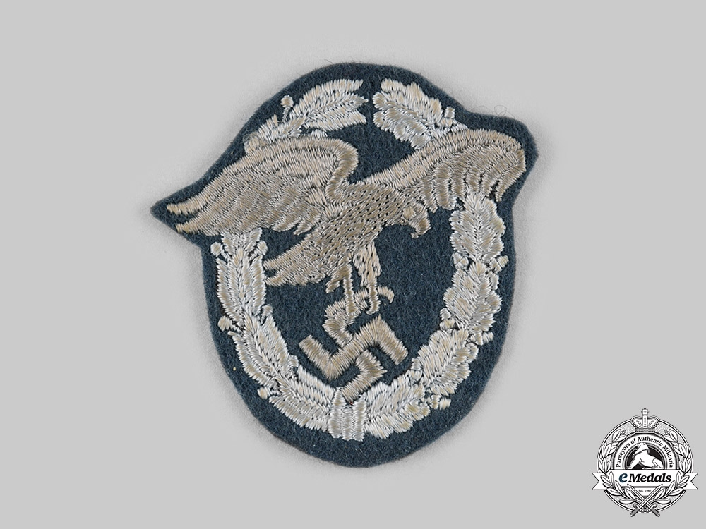 eMedals-Germany, Luftwaffe. An Observer's Badge, Cloth Version