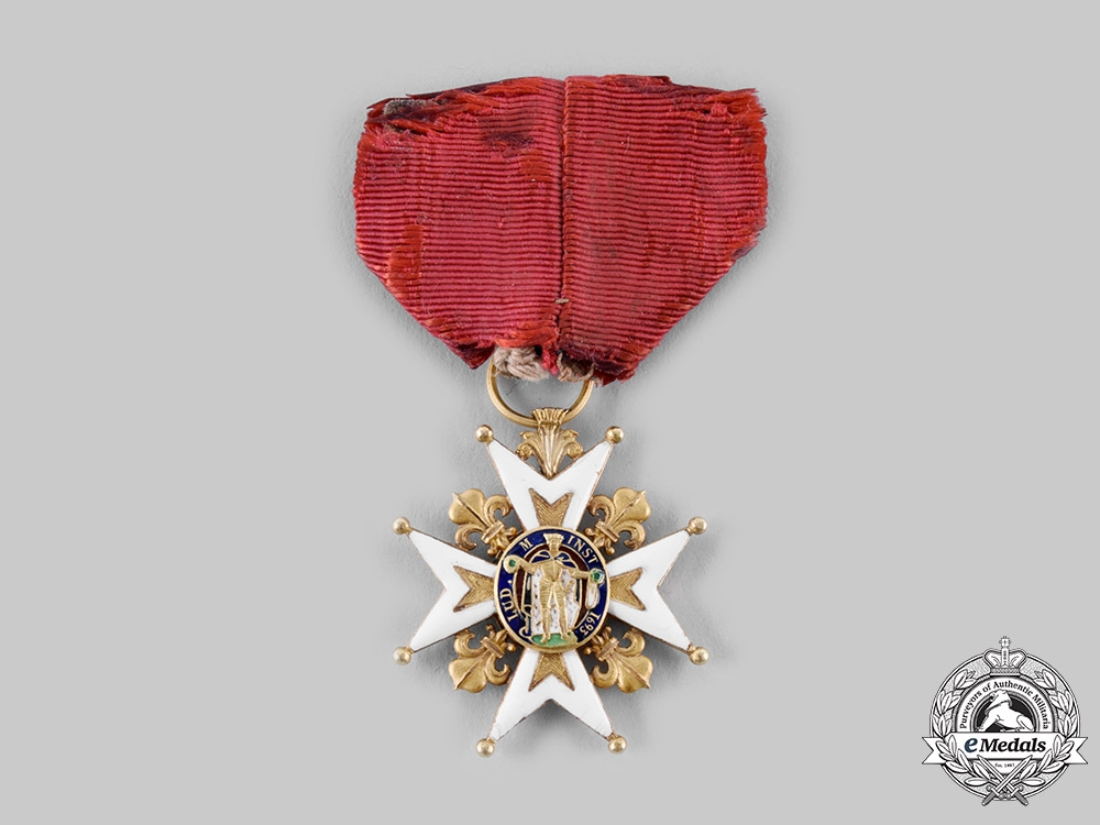 eMedals-France, Empire. An Order of Saint Louis for Catholic Officers, Knight's Badge, c.1815