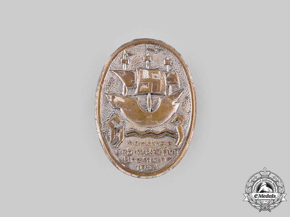 eMedals-Germany, HJ. A 1933 Bremen District Meeting Badge