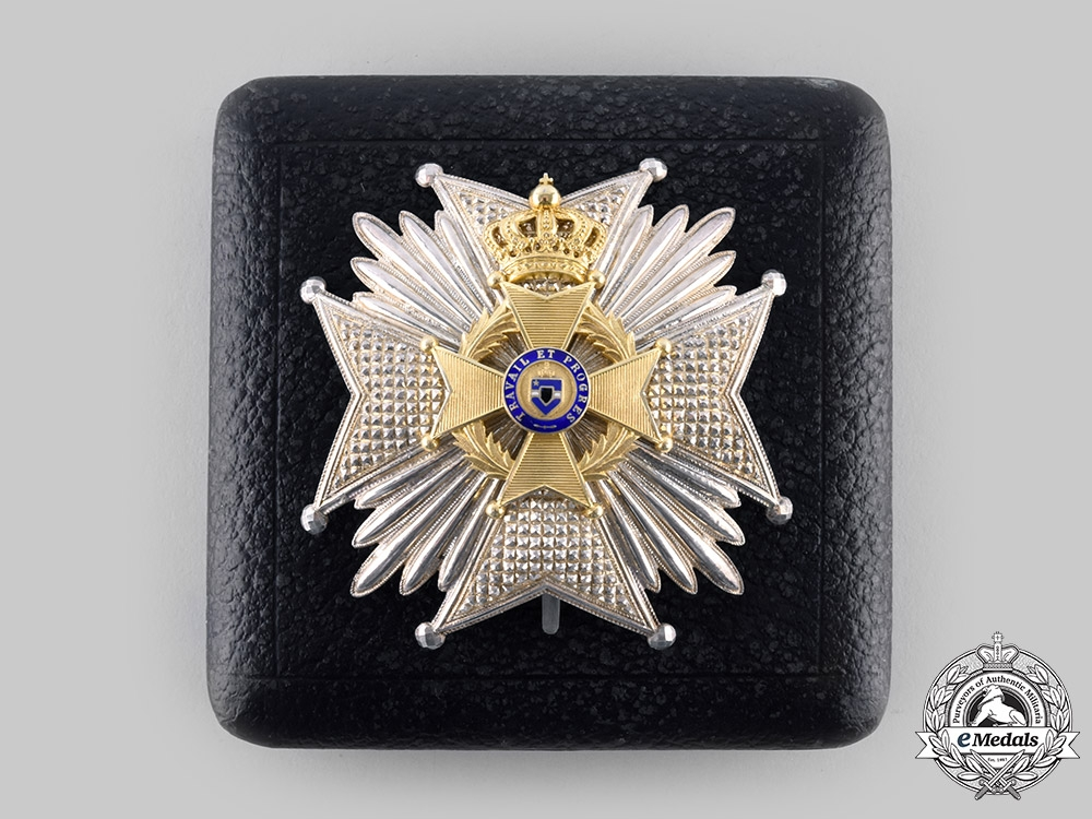 eMedals-Belgium, Kingdom. An Order of Leopold II, Officer's Star with Case, by G. Wolfers, c.1900