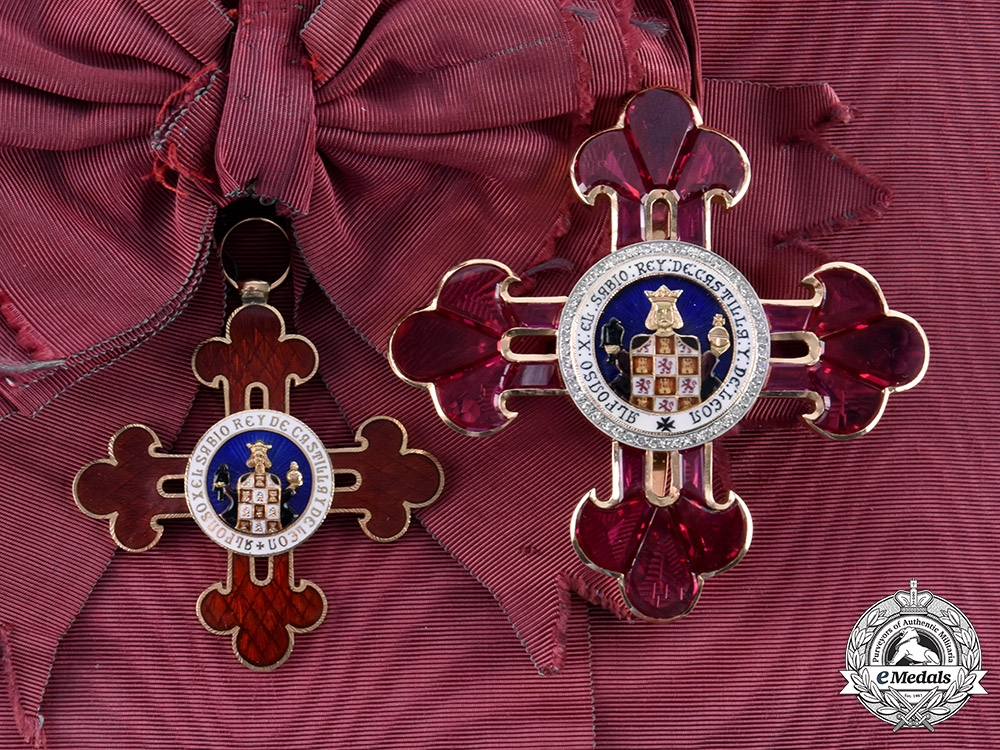 eMedals-Spain, Fraco Period. A Civil Order of Alfonso X the Wise in Gold and Diamonds, Grand Cross, c.1940