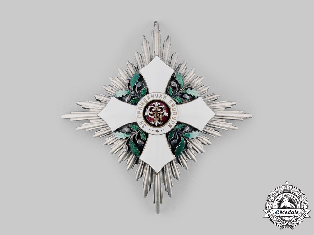 eMedals-Bulgaria, Kingdom. An Order of Civil Merit, Commander's Star, by Johann Schwerdtner, c. 1900