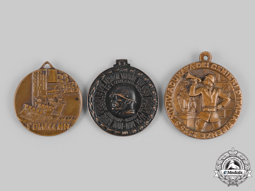 eMedals-Italy, Fascist State. Three Medals & Awards