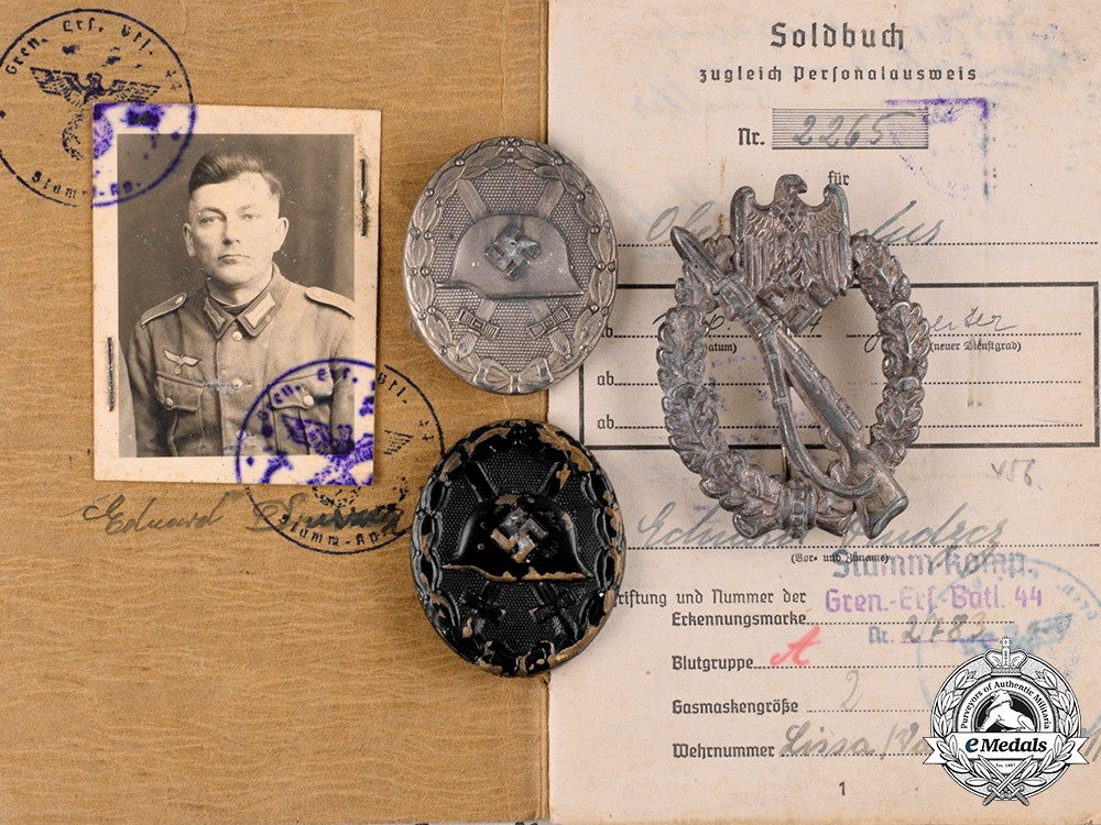 eMedals-Germany, Heer. A Lot of Awards and Documents to Eduard Druszcz