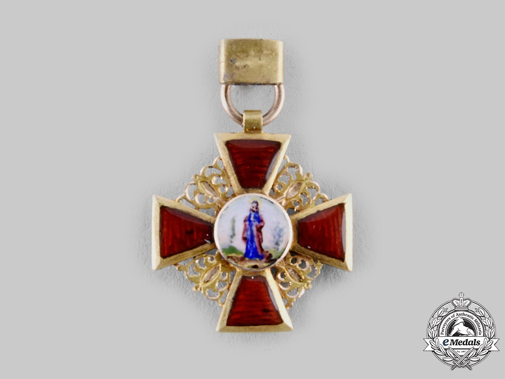 eMedals-Russia, Imperial. An Order of St. Anne in Gold, Miniature, c.1900