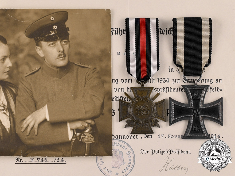 eMedals-Germany, Imperial. A Lot of Awards and Documents to Ernst Meier