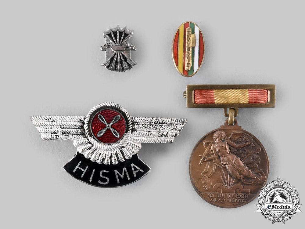 eMedals-Spain, Fascist State. Four Awards & Insigina