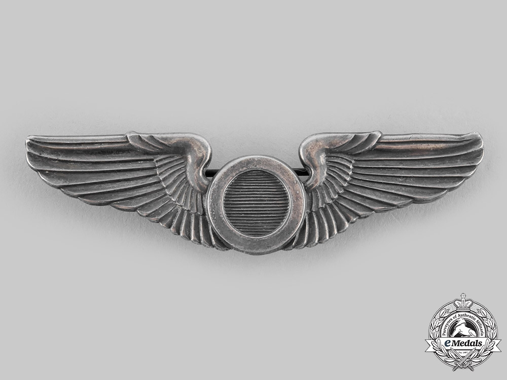 eMedals-United States. An Australian-Made Army Air Force Observer Badge, by K.G.Luke Melbourne, c.1942