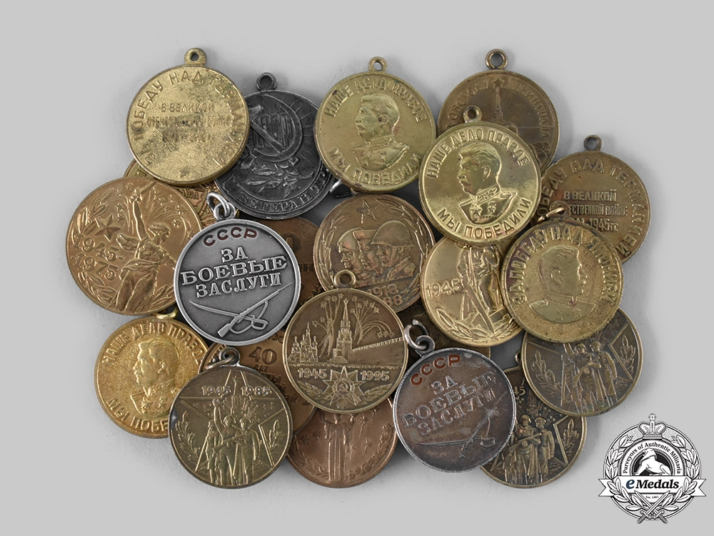 eMedals-Russia, Soviet Union, Federation. A Lot of Twenty-Two Medals