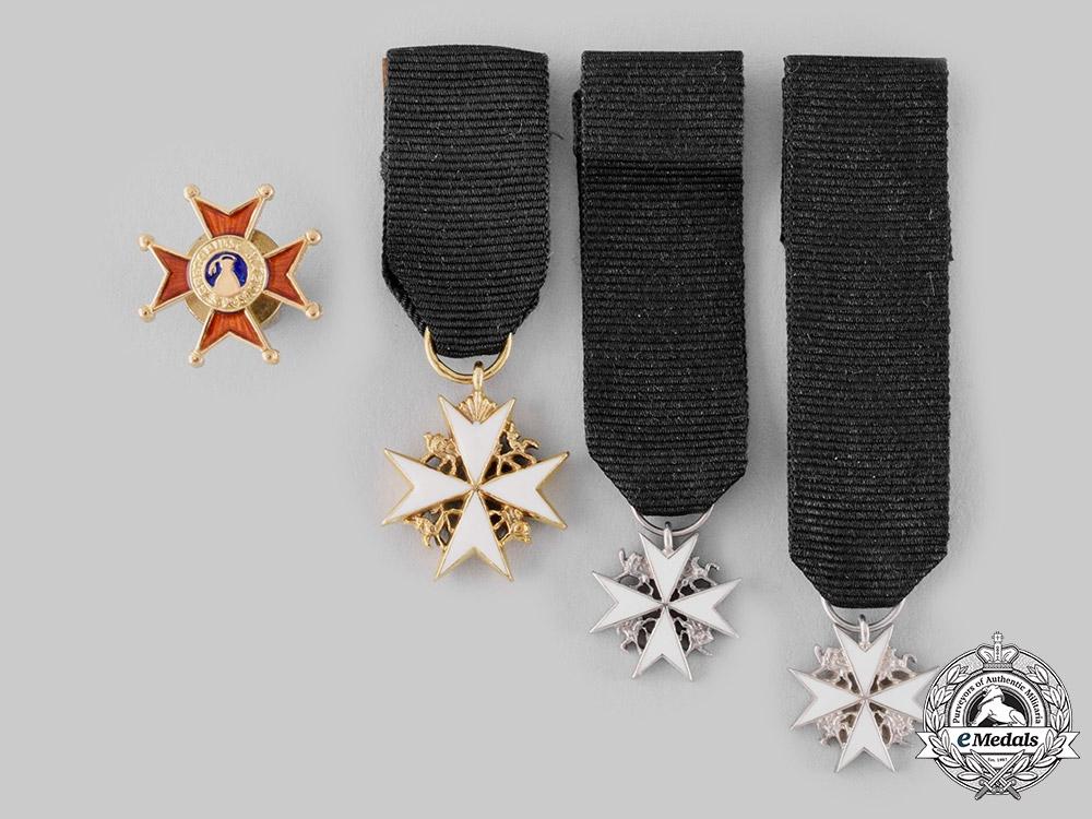 eMedals-Vatican, United Kingdom. Four Miniature Awards