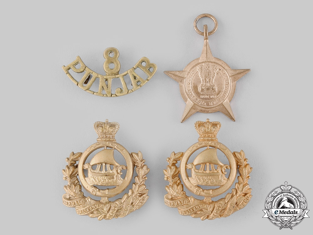 eMedals-India, Republic. A Lot of Four Army Items