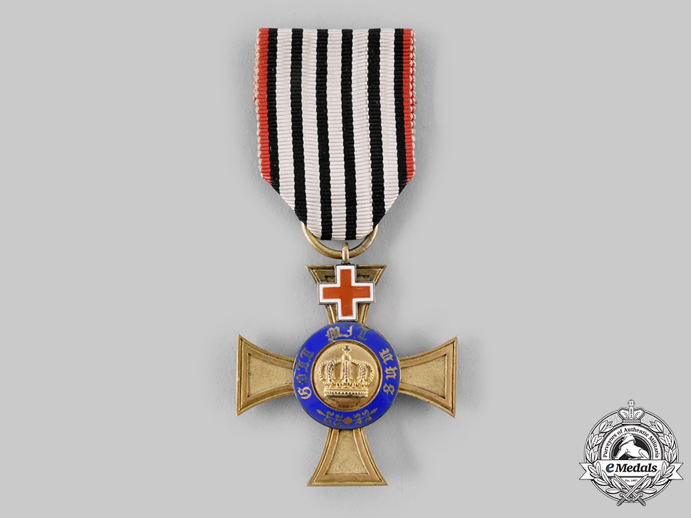 eMedals-Prussia, Kingdom. An Order of the Crown, IV Class with Geneva Cross