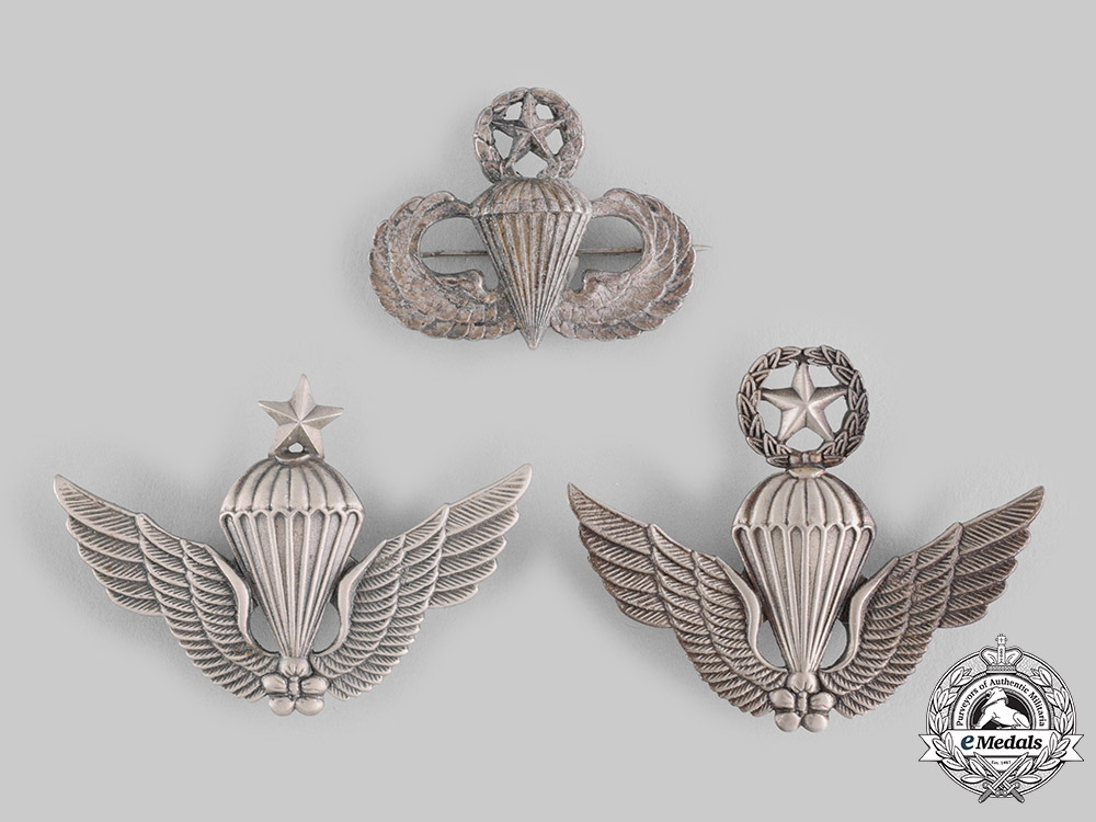 eMedals-Korea, Republic (South Korea), United States. Three Parachutist Badges