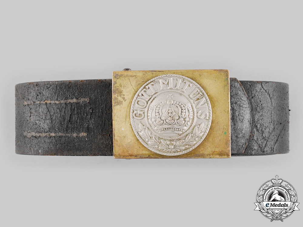 eMedals-Germany, Imperial. A Heer EM/NCO's Belt and Buckle by Hermann Flohr