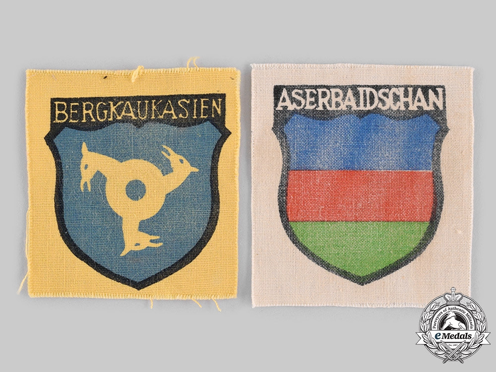 eMedals-Germany, Wehrmacht. A Pair of Foreign Volunteer Arm Shields
