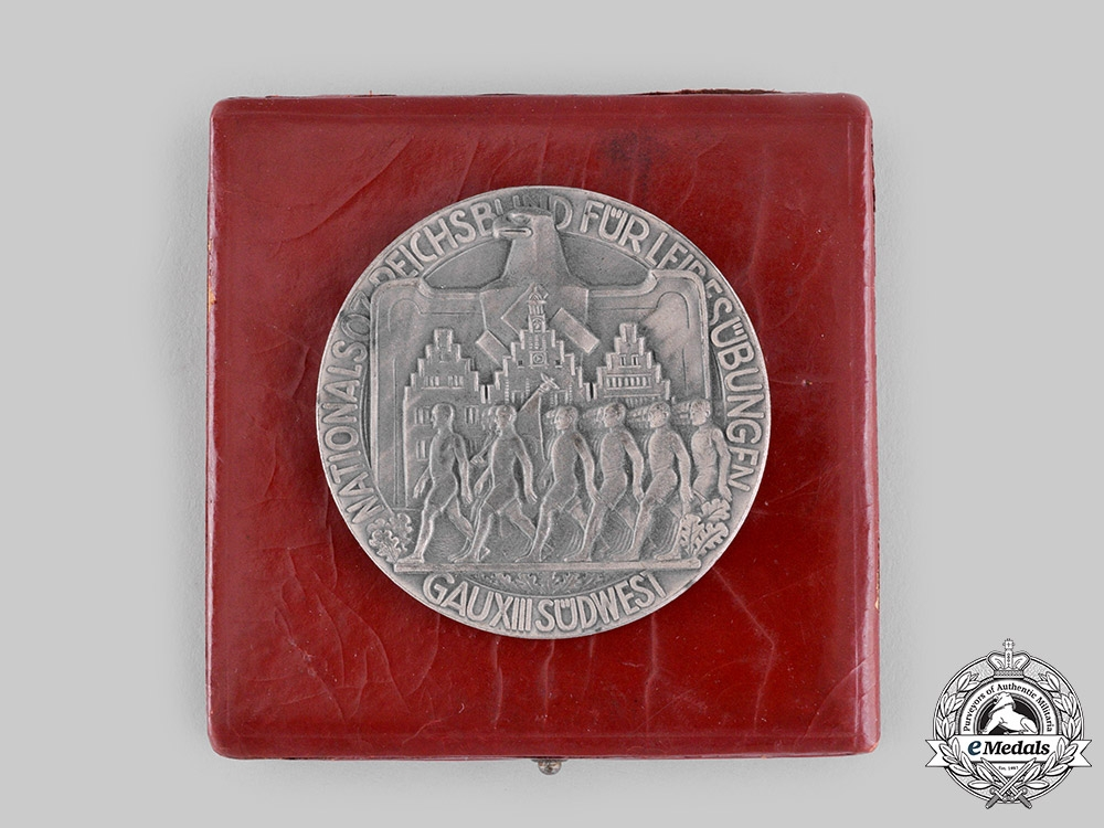 eMedals-Germany, NSRL. A Gau Südwest Faithful Service Medal with Case