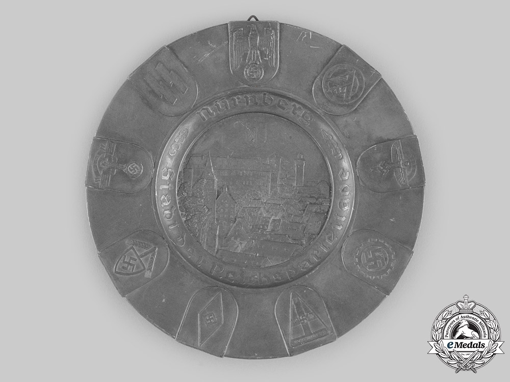 eMedals-Germany, Third Reich. A Nuremberg Rally Commemorative Pewter Plate