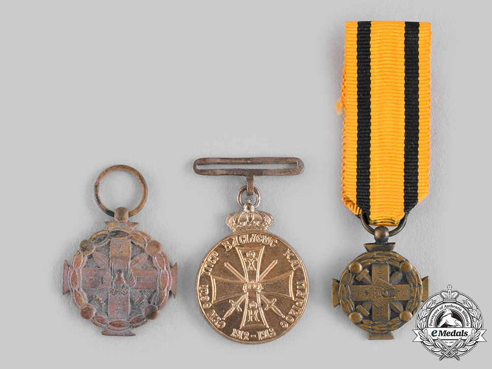 eMedals-Greece, Kingdom. Three Miniature Medals & Decorations