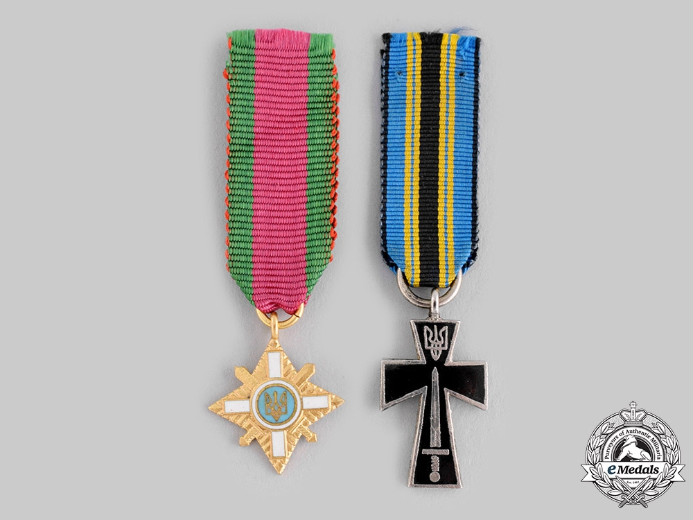 eMedals-Ukraine. Two Miniature Awards & Decorations