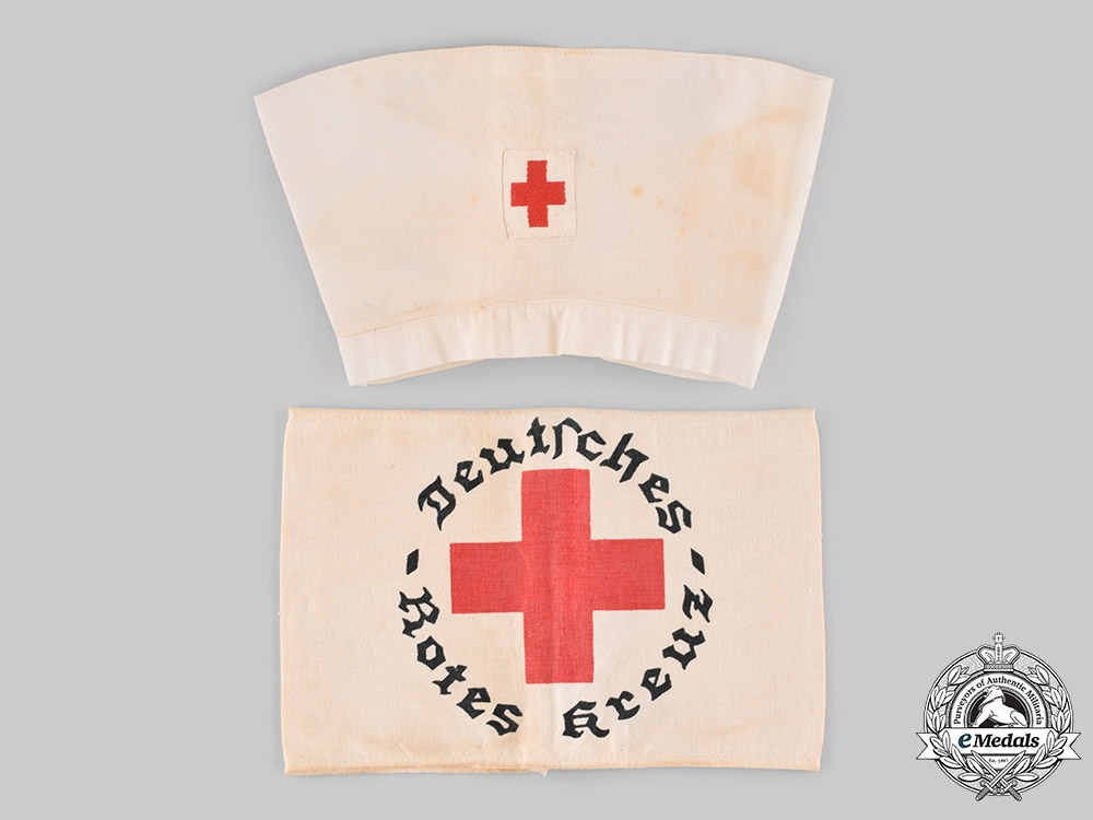 eMedals-Germany, DRK. A Pair of German Red Cross Uniform Accessories
