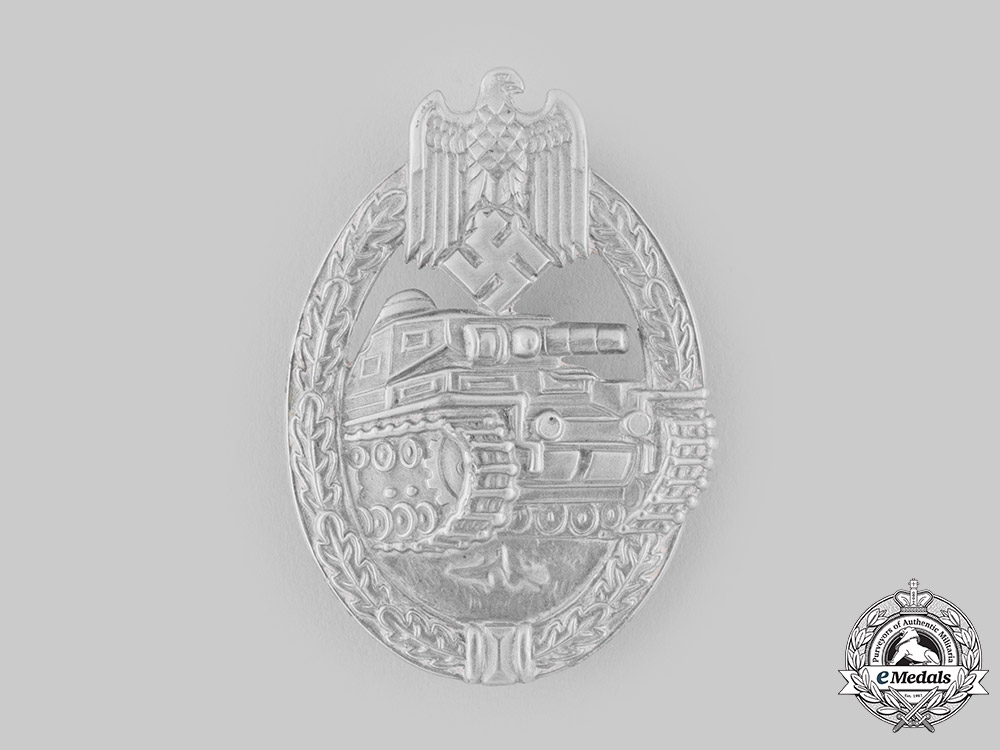 eMedals-Germany, Wehrmacht. A Panzer Assault Badge, Silver Grade, by Frank & Reif