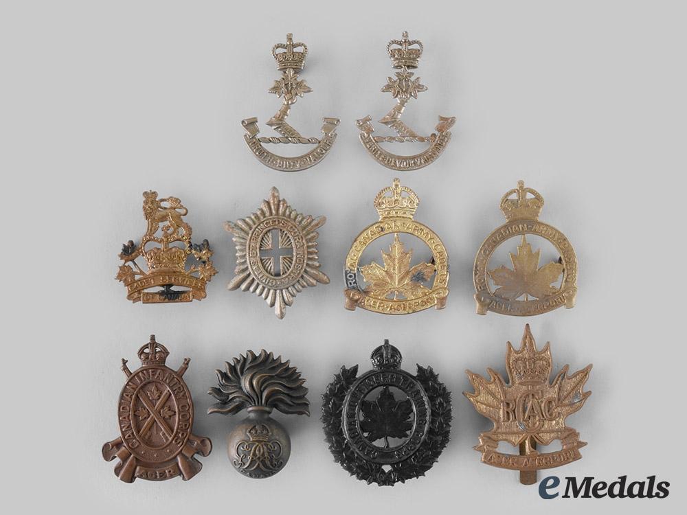 eMedals-Canada. A Lot of Ten First War and Post Second War Badges