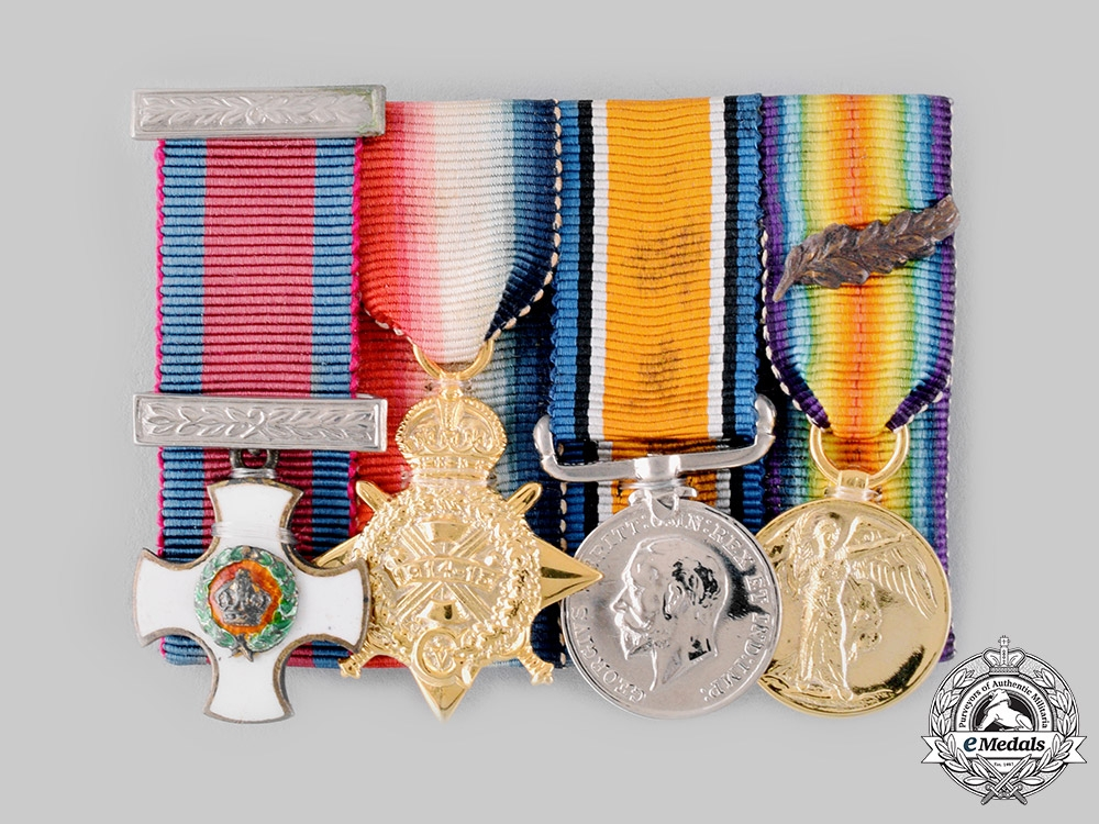 eMedals-United Kingdom. A First War Distinguished Service Order Miniature Group