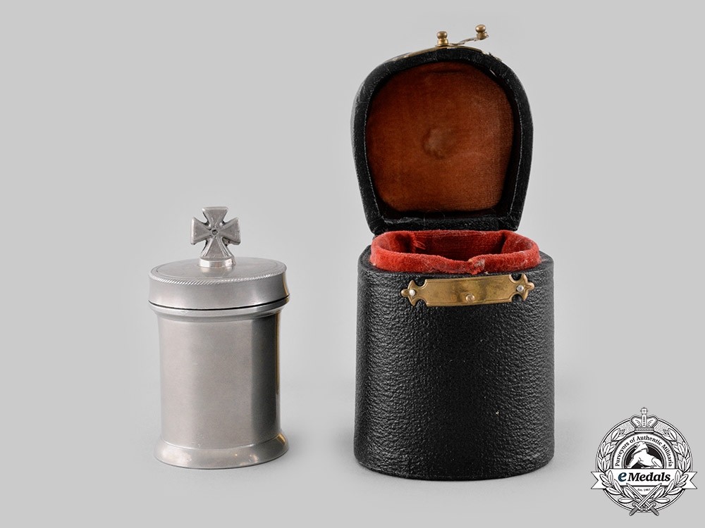eMedals-Germany, Imperial. A Rare Field Communion Kit with Case, c.1915