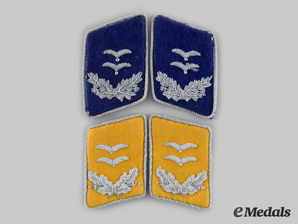 eMedals-Germany, Luftwaffe. A Lot of Oberleutnant Collar Tabs