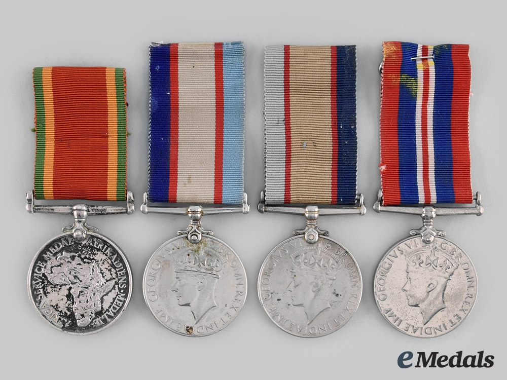 eMedals-Australia, South Africa. Four Second War Campaign Medals