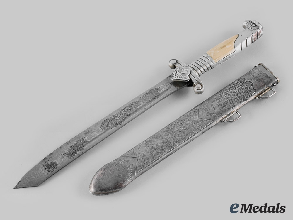 eMedals-Germany, RAD. A Reich Labour Service Model 1937 Leader's Hewer, Damascus Blade