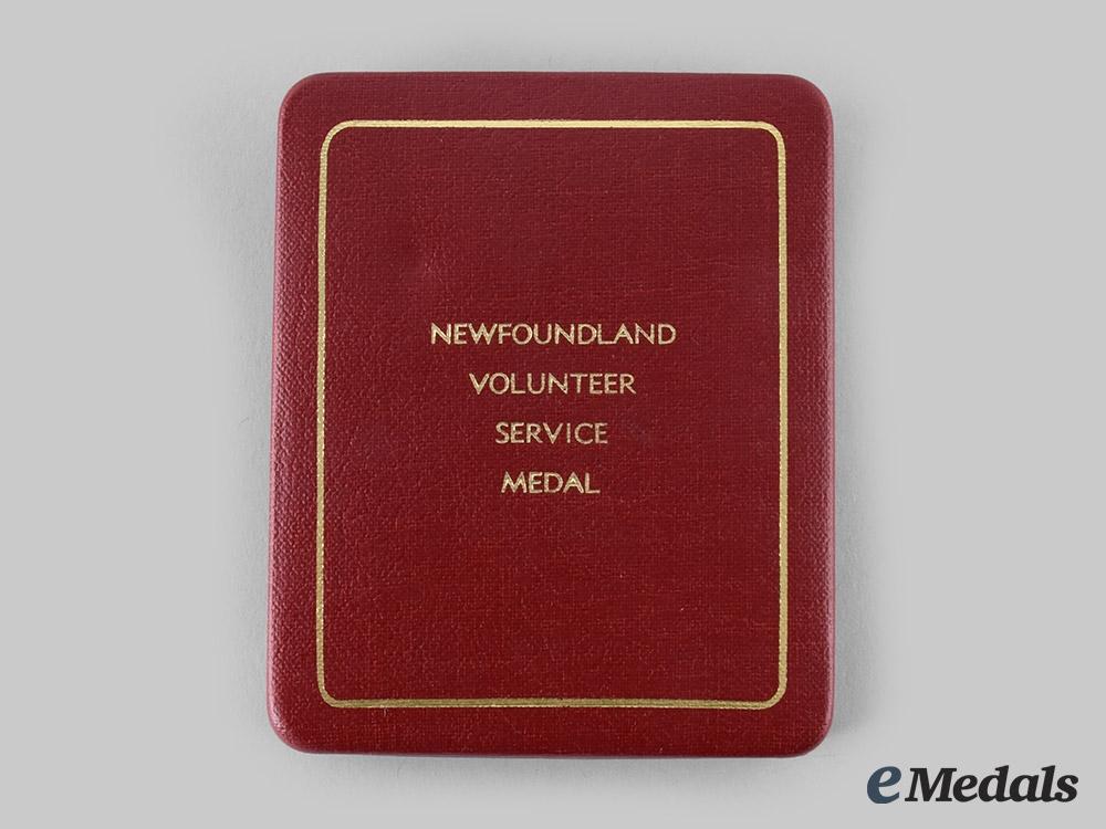 eMedals-Canada, United Kingdom. A Newfoundland Volunteer War Service Medal Case
