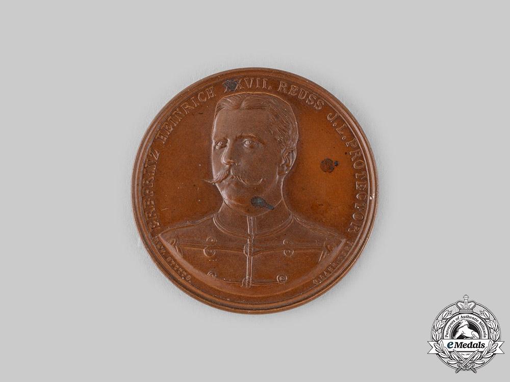 eMedals-Reuss, County. A Prince Heinrich XXVII Merit Medallion
