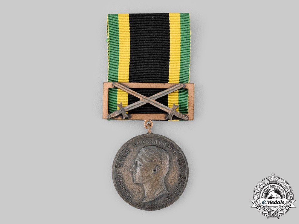 eMedals-Saxe-Weimar, Grand Duchy. A General Honour Decoration, Bronze grade, with Clasp, c.1916