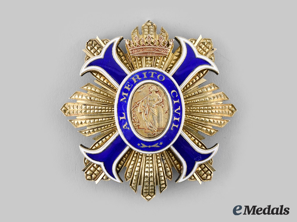 eMedals-Spain, Kingdom. An Order of Civil Merit, Grand Cross Star, c. 1960