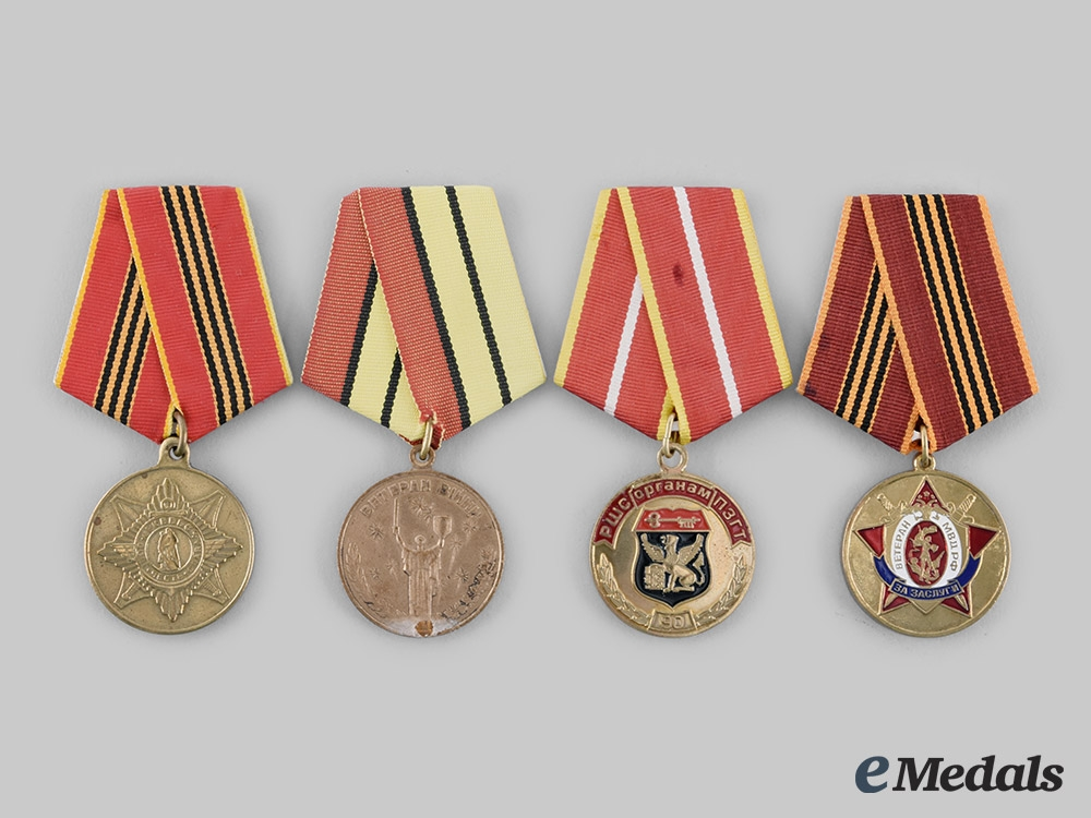 eMedals-Russia, Federation. A Lot of Single Mounted Medals of Russia and Soviet Successor States