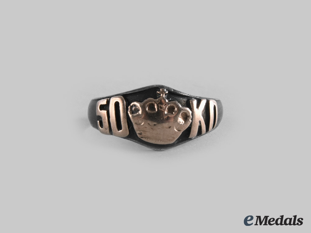 eMedals-Russia, Imperial. A Privately Made Commemorative Ring, c. 1910
