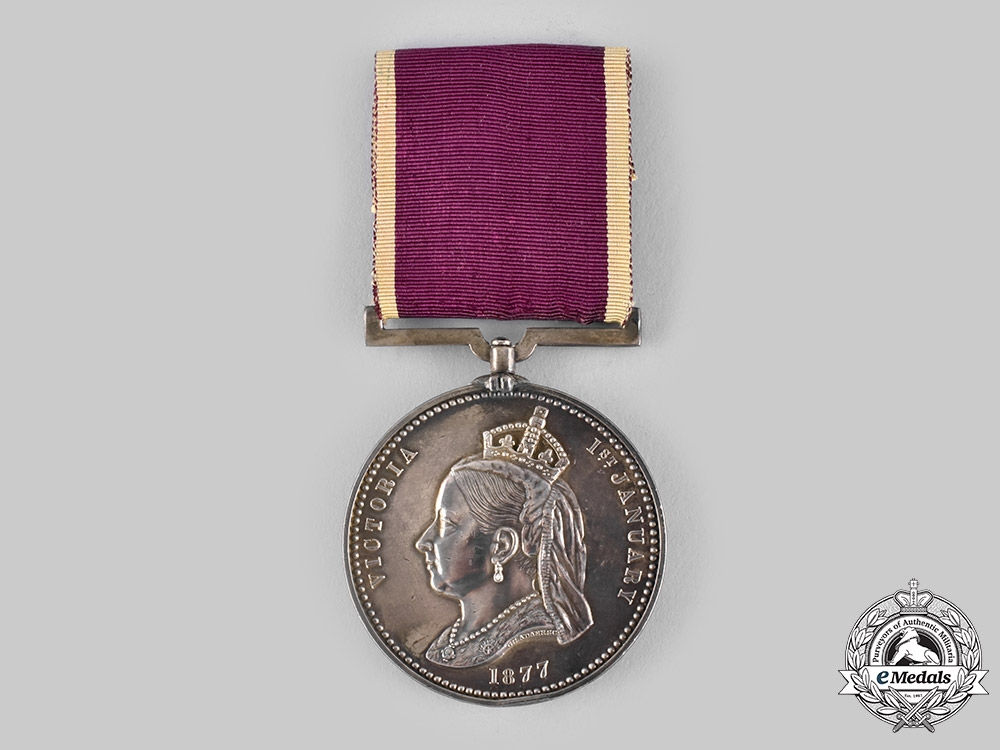 eMedals-United Kingdom. An Empress of India Medal 1877