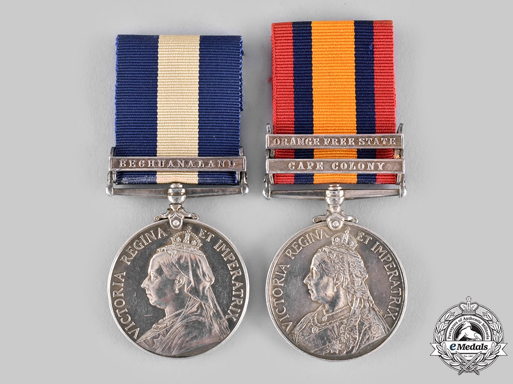 eMedals-United Kingdom. A South African Pair, Cape Town Highlanders, South African Light Horse