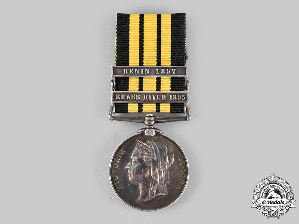 eMedals-United Kingdom. An East and West Africa Medal 1887-1900, to Plumber's Mate William H. Buckler, H.M.S. Barrosa, Royal Navy