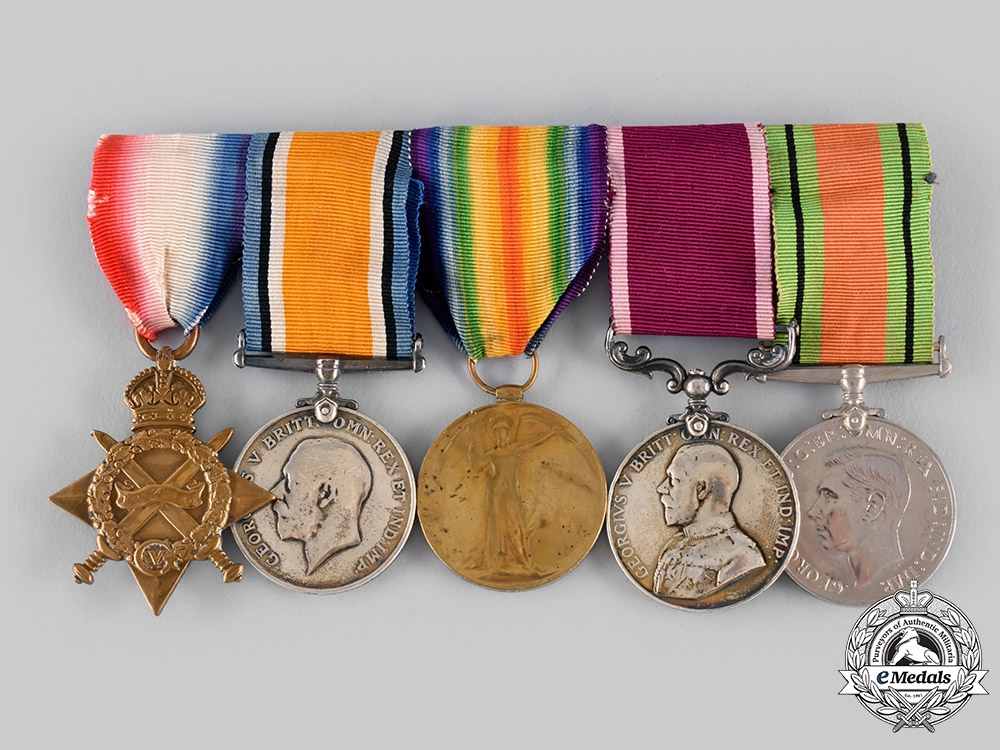 eMedals-United Kingdom. A First War & Long Service Grouping, Shropshire Light Infantry