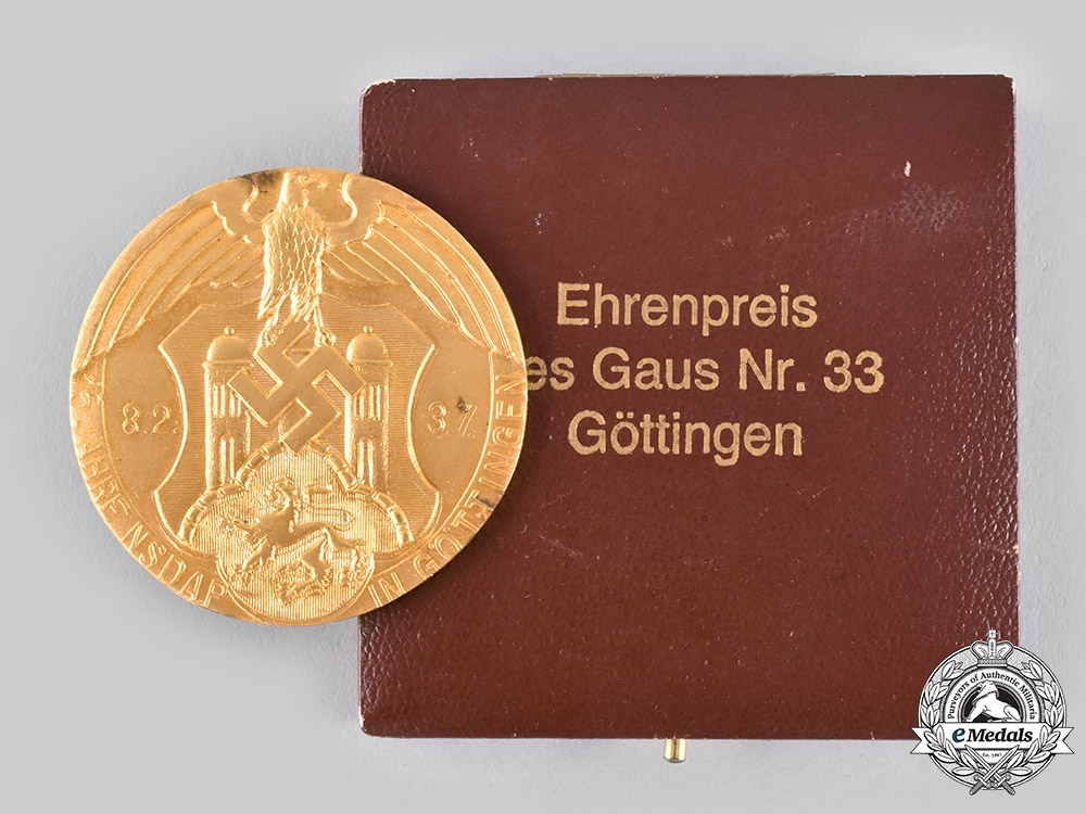 eMedals-Germany, NSDAP. A 1937 Göttingen Gau Honour Prize, with Case, by Josef Feix & Söhne