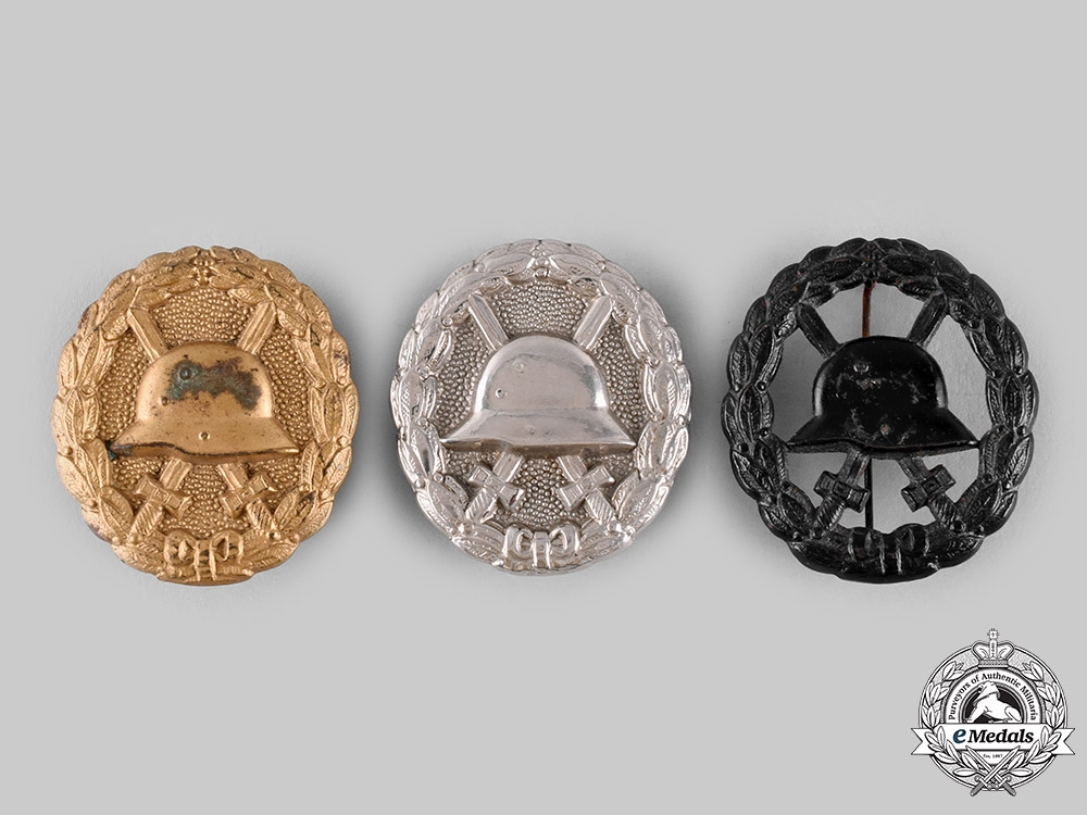 eMedals-Germany, Imperial. A Lot of Wound Badges, All Grades