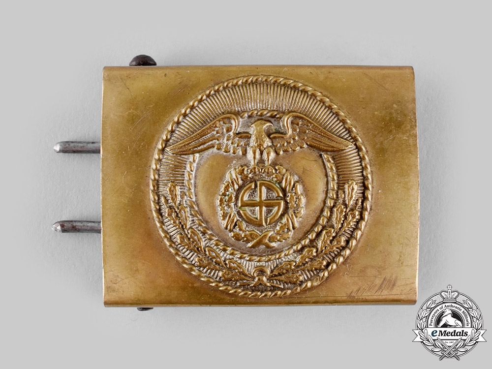 eMedals-Germany, SA. A First Pattern Sturmabteilung (SA) EM/NCO's Belt Buckle