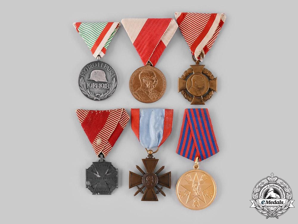 eMedals-Austria, France, Hungary, Yugoslavia. A Lot of Six Medals & Decorations